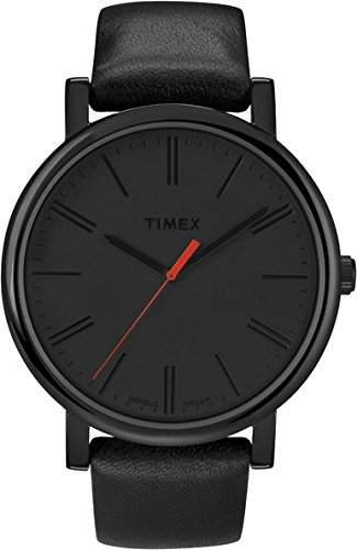 Timex Herren-Armbanduhr Schwarz Analog Leder T2N794PF