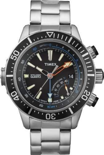 Timex Herren-Armbanduhr XL Analog Quarz Edelstahl beschichtet T2N809D7