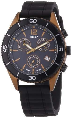Timex Unisex-Armbanduhr Modern Originals Sport Chronograph Silikon T2N829