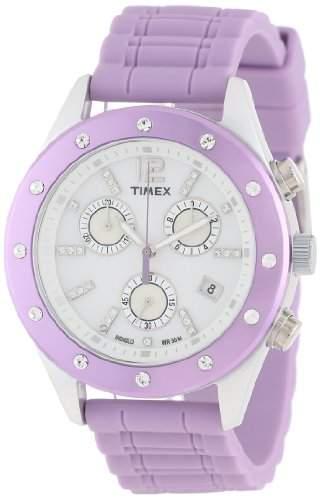 Timex Damen-Armbanduhr Modern Originals Sport Chronograph Silikon T2N832
