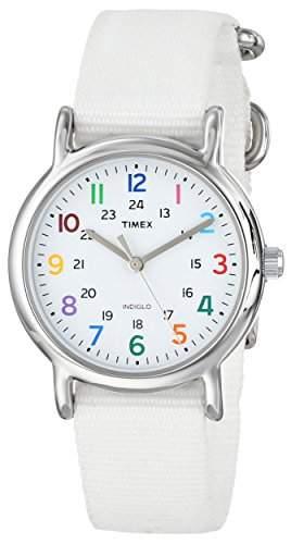 Timex Damen-Armbanduhr XS Weekender Slip Through Analog Nylon T2N837D7