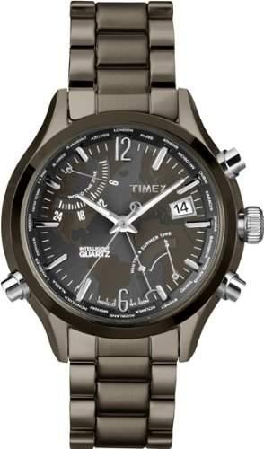 Timex Herren -Armbanduhr Chronograph Quarz Edelstahl T2N946AU