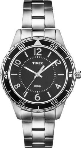 Timex Damen-Armbanduhr XS Style Analog Quarz Edelstahl T2P019
