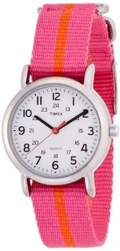 Timex Classic Damen-Armbanduhr Analog nylon rosa T2P072PF