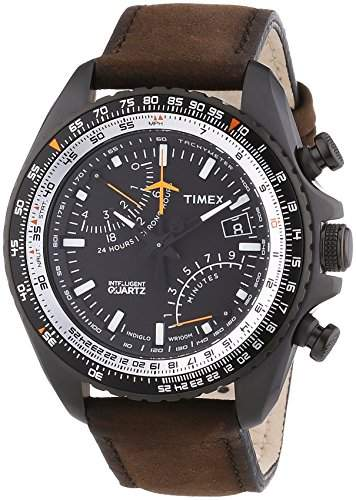 Timex Herren-Armbanduhr Chronograph Quarz Leder T2P102