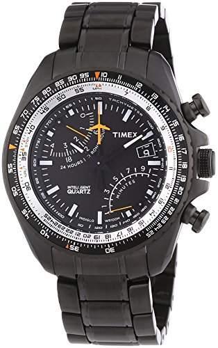 Timex Herren-Armbanduhr Chronograph Quarz Edelstahl T2P103