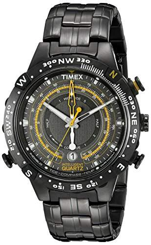 Timex Intelligent Quartz Herren Armbanduhr Analog Edelstahl grau T2P139