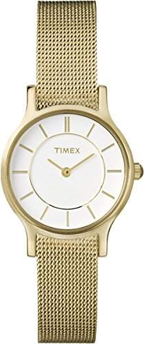 Timex Damen-Armbanduhr XS Style Analog Quarz verschiedene Materialien T2P168