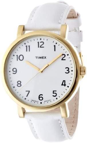 Timex Unisex-Armbanduhr Style Analog Quarz Leder T2P170