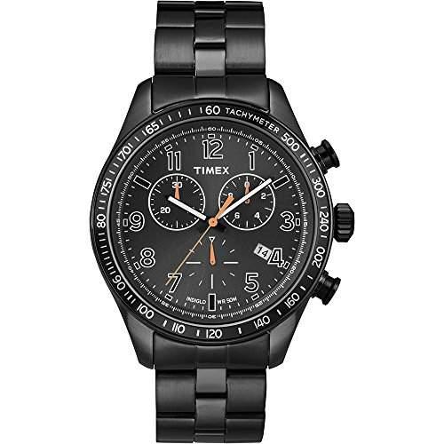 Timex Herren-Armbanduhr Kaléidoscope Chronograph Quarz Edelstahl T2P183