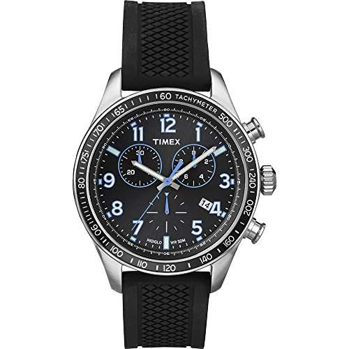 Timex Herren-Armbanduhr Chronograph Quarz Silikon T2P184PF