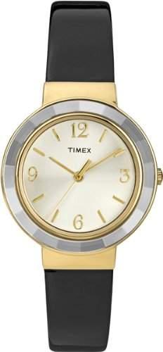 Timex Damen -Armbanduhr Analog Quarz Leder T2P199PF