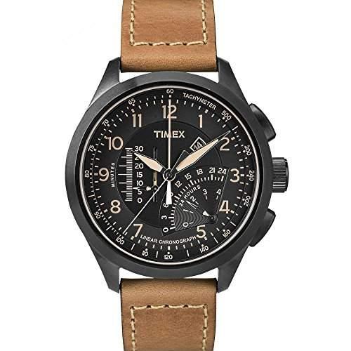Timex Herren-Armbanduhr Chronograph Quarz Leder T2P277