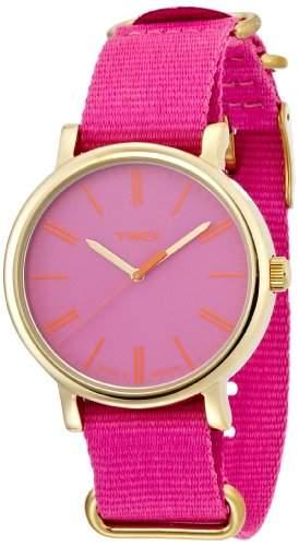 Timex Damen-Armbanduhr Analog Quarz Nylon T2P364PF