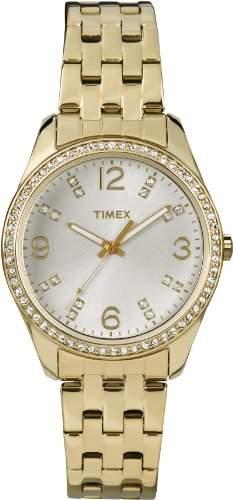 Timex Damen-Armbanduhr Analog Quarz Edelstahl T2P388