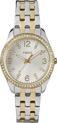 Timex Damen-Armbanduhr Analog Quarz Edelstahl T2P389