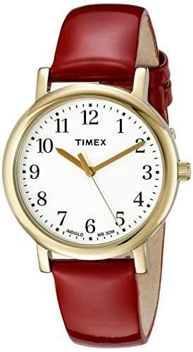 Timex Damen-Armbanduhr Analog Quarz Leder T2P464