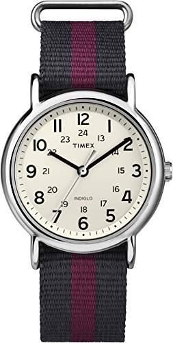 Timex Unisex-Armbanduhr Weekender Analog Quarz Nylon T2P469