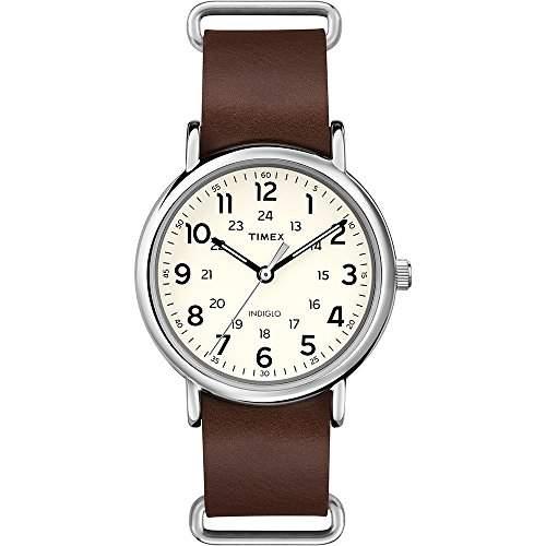 Timex Unisex-Armbanduhr Originals Weekender Analog Quarz Schokolade T2P495