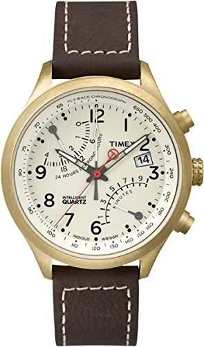 Timex Herren-Armbanduhr Analog Quarz Leder T2P510