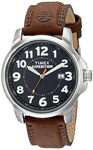 Timex Herren-Armbanduhr Analog Quarz Leder T44921