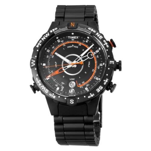 Timex Herren-Armbanduhr Analog Edelstahl schwarz T2N723