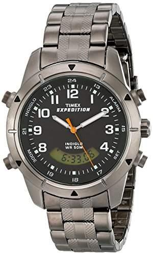Timex Herren-Armbanduhr XL Metal Combo Analog - Digital Edelstahl T49826D7