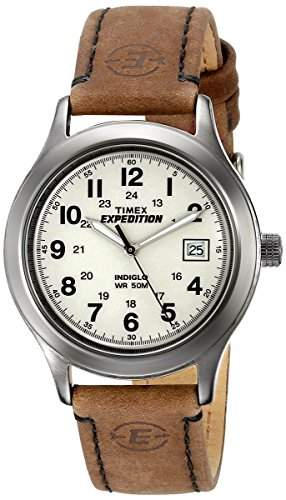 Timex Herren-Armbanduhr Analog Leder braun T49870SU