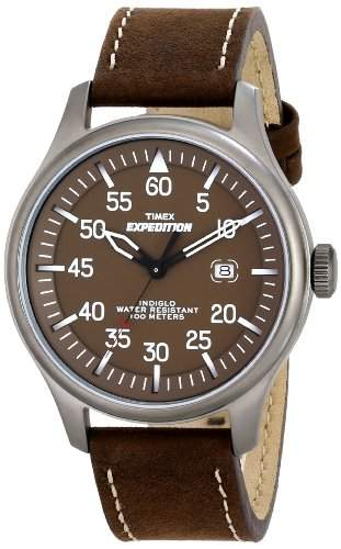 Timex Herren-Armbanduhr XL Vintage Military Field Analog Leder T49874D7
