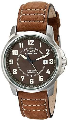 Timex Herren-Armbanduhr XL Vintage Military Field Analog Leder T49891