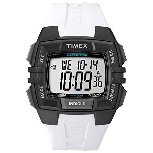TIMEX HERREN 45MM WEIss RESIN ARMBAND RESIN GEHAEUSE MINERAL GLAS DATUM UHR T49901