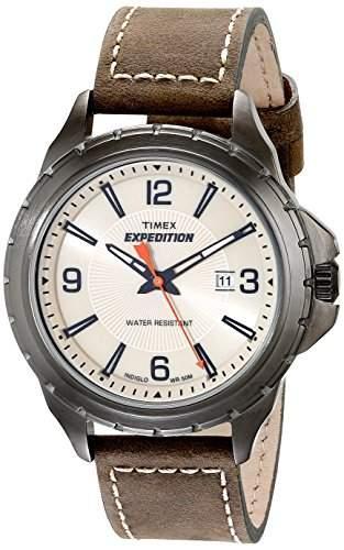Timex Herren-Armbanduhr Analog Quarz Leder T49909
