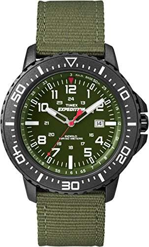 Timex Herren-Armbanduhr XL Expedition Uplander Analog Quarz Plastik T49944D7