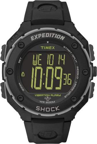 Timex Herren-Armbanduhr Expedition Shock XL Vibrating Digital Quarz Plastik T49950