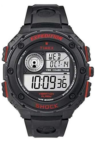 Timex Herren-Armbanduhr Expedition Vibe Shock Digital Quarz Plastik T49980