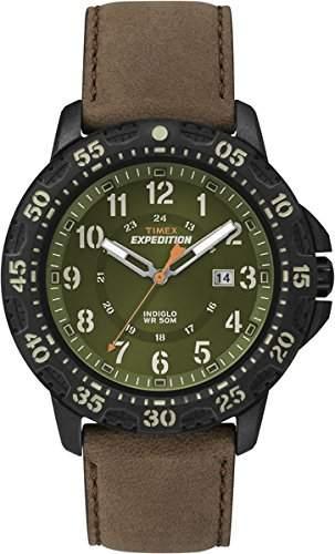 Timex Herren-Armbanduhr Analog Quarz Leder T49996