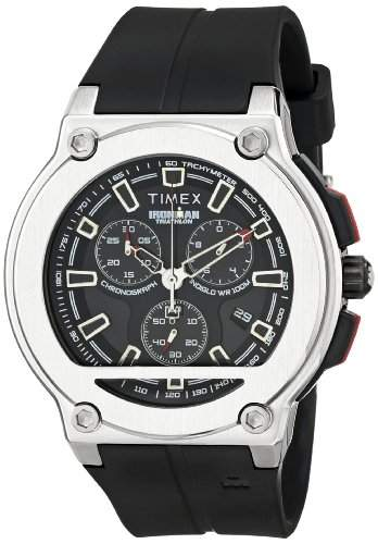 Timex Herren-Armbanduhr XL Timex Ironman Dress Chronograph Chronograph Kautschuk T5K354