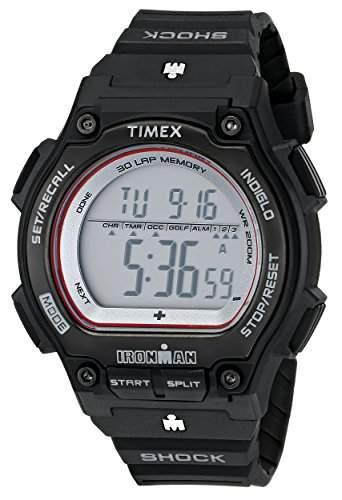 Timex Herren-Armbanduhr XL Ironman Shock Resistant 30 Lap Digital Plastik T5K584