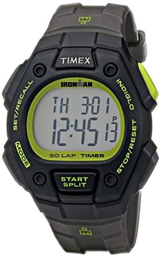 Timex Herren-Armbanduhr 45mm Armband Harz Grau + Gehaeuse Acryl Batterie Digital T5K8249J
