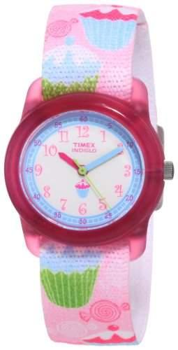 Timex Classic Maedchen-Armbanduhr Analog Textil T7B886