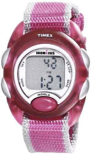 TIMEX IRONKIDS PINK  SILVER T7B980