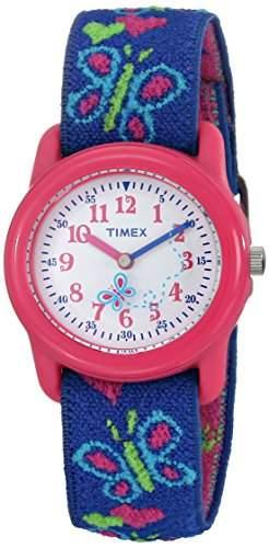 Timex Maedchen-Armbanduhr Analog Textil T89001