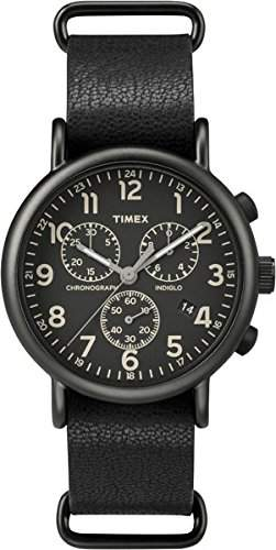 Timex Unisex-Armbanduhr Chronograph Quarz Leder TW2P62100
