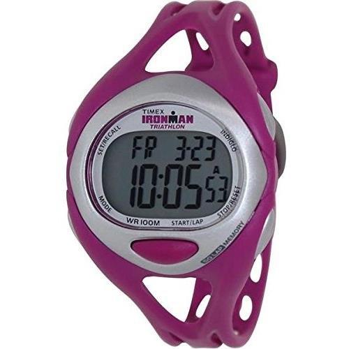 Timex Damen 38mm Lila Resin Armband Resin Gehaeuse Mineral Glas Datum Uhr T5K759