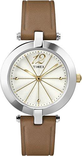 Timex Damen Armbanduhr Analog Quarz Leder T2P543