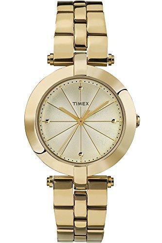 Timex Lds Greenwich Goldtone Bracelet Champange Dial Analog Quarz TW2P79200