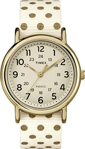 Timex Damen Armbanduhr Timex WeekenderTM Dots Analog Quarz Nylon TW2P66100