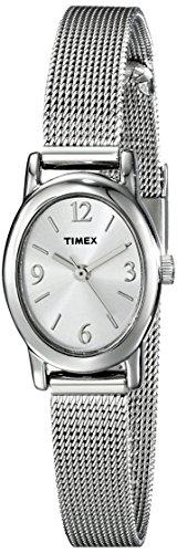 Timex Damen T2N743 Elevated Classics Dress Mesh Bracelet Armbanduhr