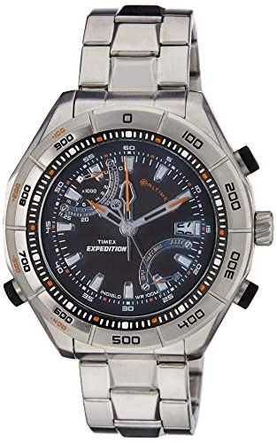 Timex Herren-Armbanduhr XL Timex Epedition E-Altimeter Analog Edelstahl T49791