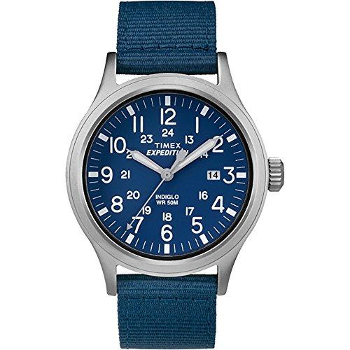 Timex Expedition Scout tw4b07000 blau blau Stoff Analog Quarz